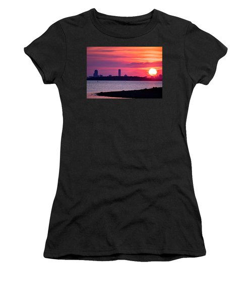 Boston Skyline Worlds End Women's T-Shirt