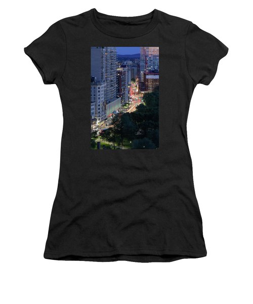 Women's T-Shirt featuring the photograph Boston Tremont St by Michael Hubley