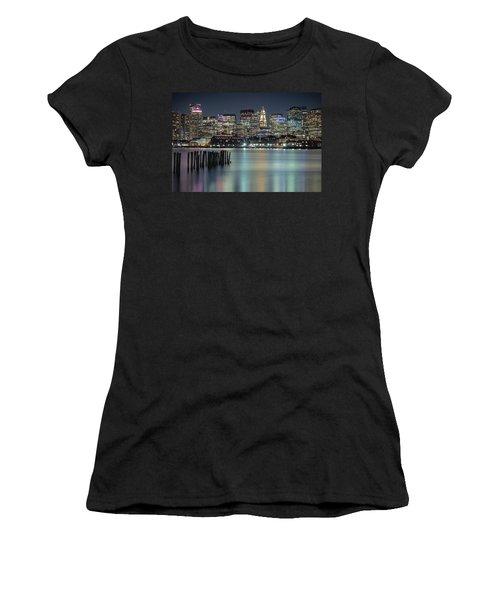 Boston's Skyline From Lopresti Park Women's T-Shirt