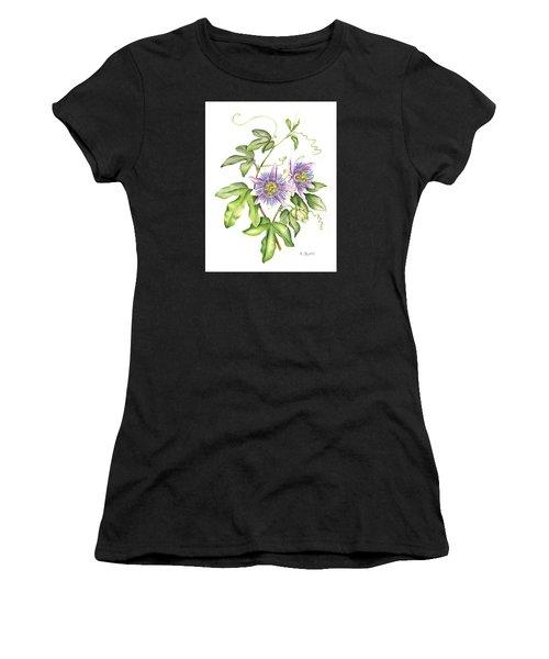 Botanical Illustration Passion Flower Women's T-Shirt