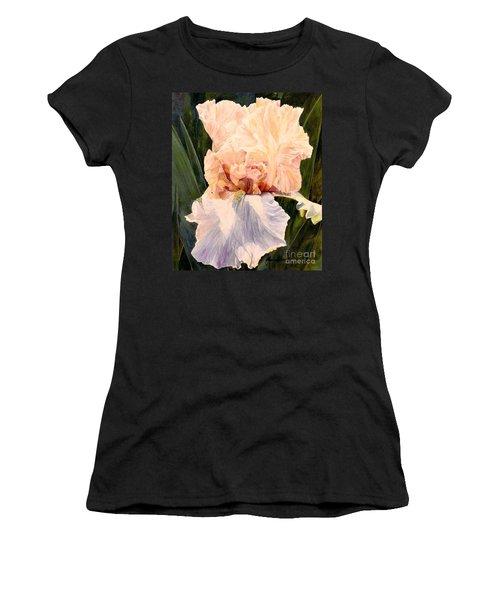 Botanical Peach Iris Women's T-Shirt