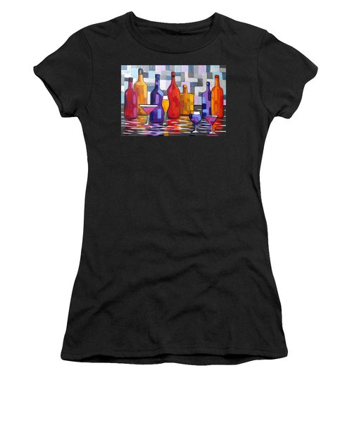 Bottle Of Wine Women's T-Shirt (Athletic Fit)