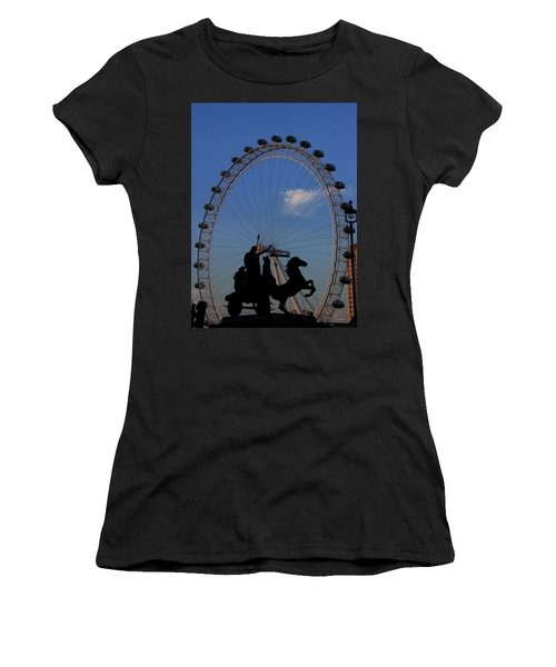 Women's T-Shirt featuring the photograph Boudicca's Eye by Rasma Bertz