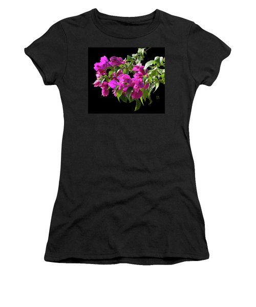 Bougainvillea Cutout Women's T-Shirt (Junior Cut) by Shirley Heyn