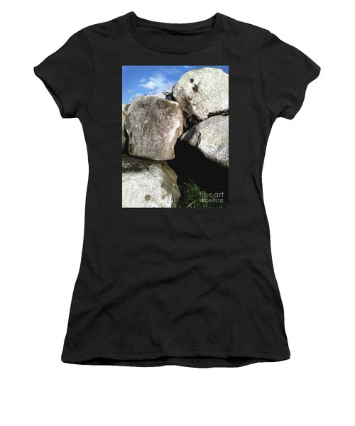Women's T-Shirt (Athletic Fit) featuring the photograph Boulders by Rebecca Harman