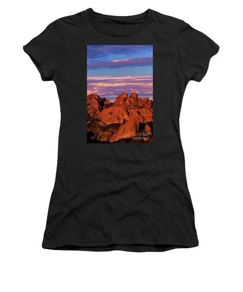 Boulders Sunset Light Pinnacles National Park Californ Women's T-Shirt