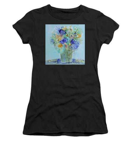 Bouquet Of Blue And Gold Women's T-Shirt