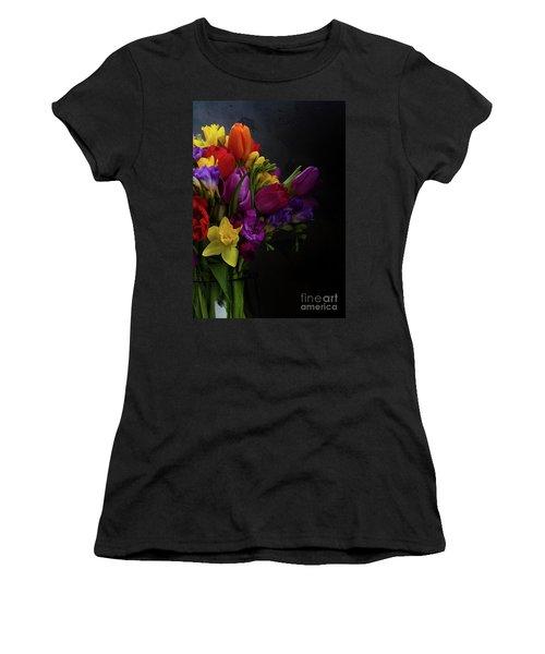 Flowers Dutch Style Women's T-Shirt (Junior Cut) by Anastasy Yarmolovich