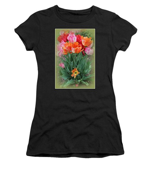 Bouquet Of Colorful Tulips Women's T-Shirt (Athletic Fit)