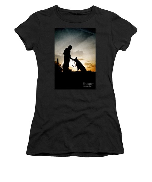 Boy And His Dog Women's T-Shirt