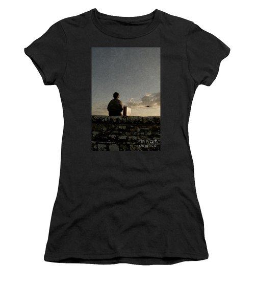 Boy On Wall Women's T-Shirt