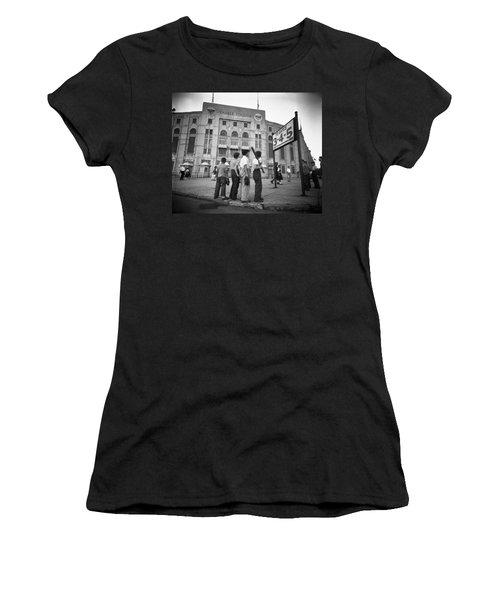 Boys Staring At Yankee Stadium Women's T-Shirt (Athletic Fit)