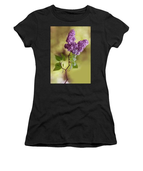 Branch Of Fresh Violet Lilac Women's T-Shirt (Athletic Fit)