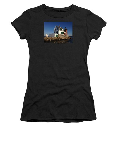 Breakwater Lighthouse Women's T-Shirt (Athletic Fit)