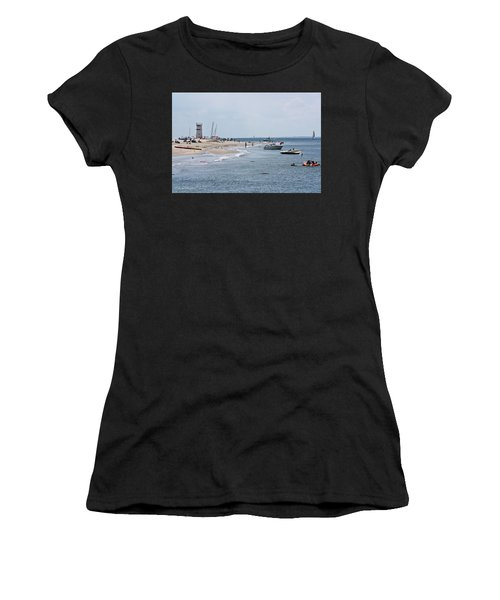 Breezy Point Lighthouse Women's T-Shirt (Athletic Fit)