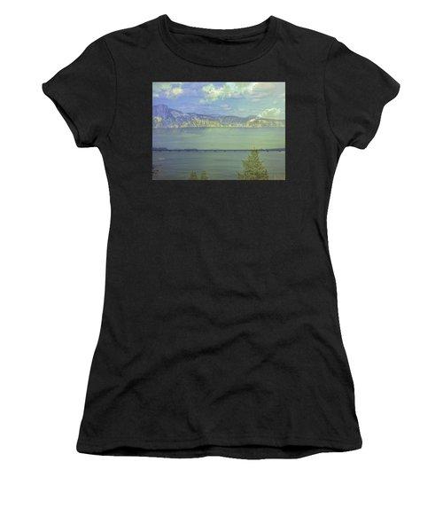 Bridge Across The  Lake Women's T-Shirt