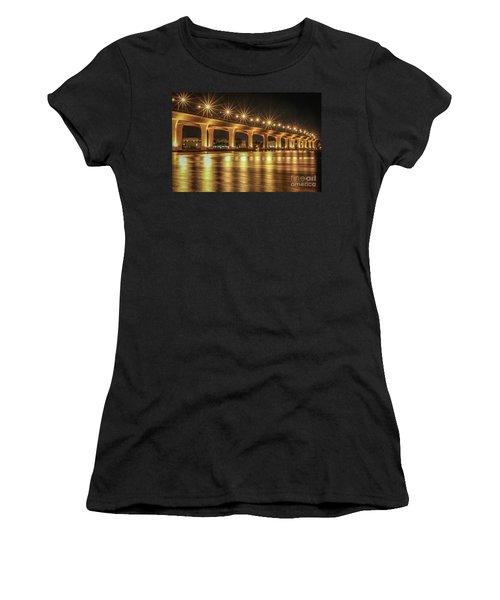 Bridge And Golden Water Women's T-Shirt (Junior Cut) by Tom Claud