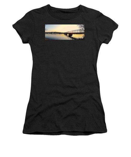 Bridge And New Hope At Sunset Women's T-Shirt