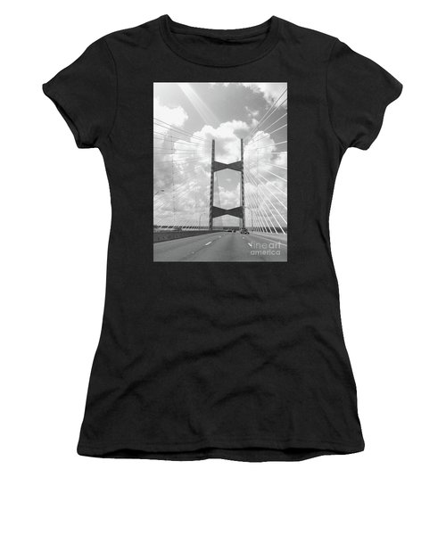Bridge Clouds Women's T-Shirt (Athletic Fit)
