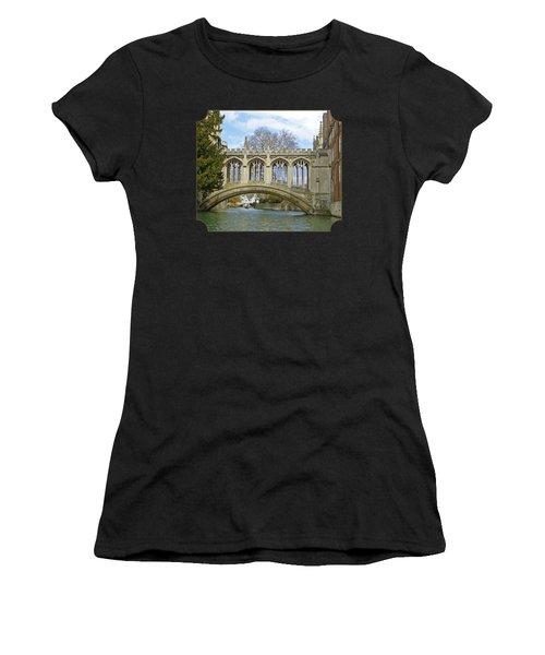 Bridge Of Sighs Cambridge Women's T-Shirt (Athletic Fit)