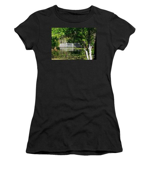Bridge On Lilly Pond Women's T-Shirt (Athletic Fit)