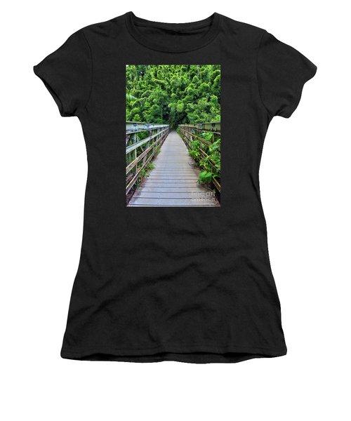 Bridge To Bamboo Forest Women's T-Shirt