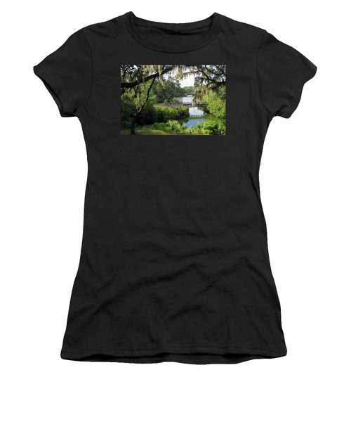 Women's T-Shirt featuring the photograph Bridges Over Tranquil Waters by Rick Locke