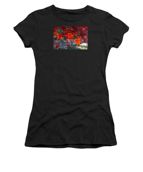 Bright Autumn Leaves Women's T-Shirt (Athletic Fit)
