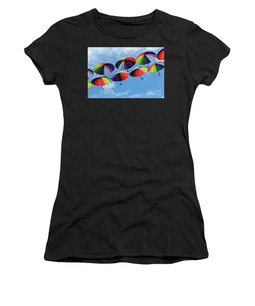 Bright Colorful Umbrellas  Women's T-Shirt
