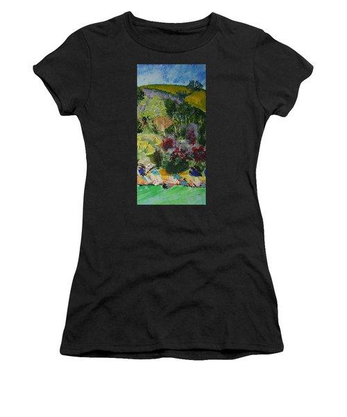 Brightly Colored Devon Landscape - Dartmouth England Women's T-Shirt