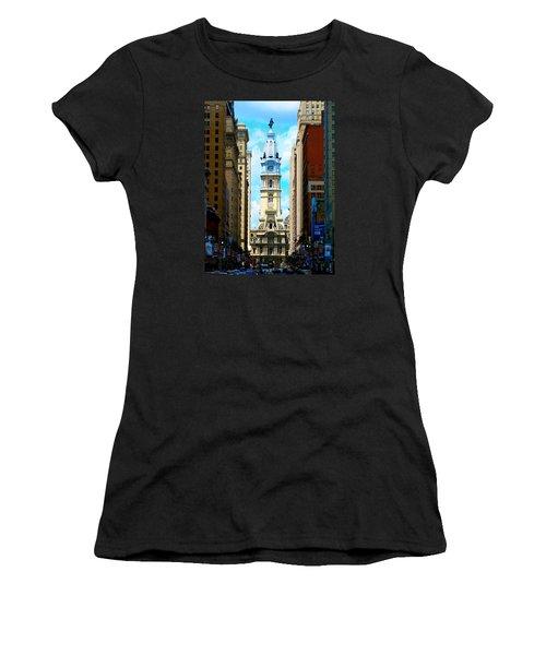 Women's T-Shirt (Junior Cut) featuring the photograph Philadelphia by Christopher Woods