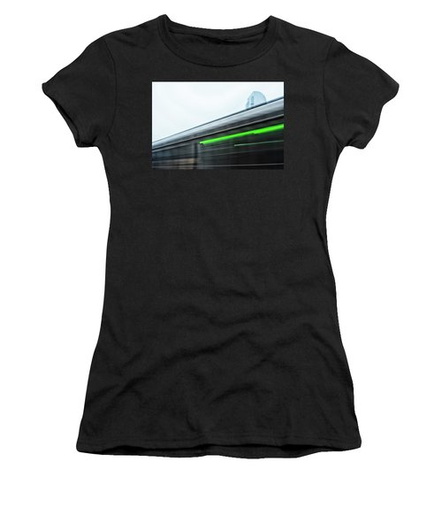 Broadway Bridge Abstract 2 Chromatic Women's T-Shirt (Athletic Fit)