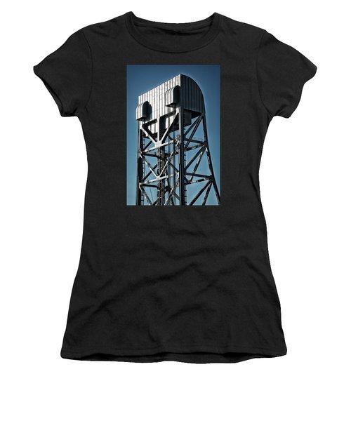 Broadway Bridge South Tower Detail 2 Chromatic Women's T-Shirt (Athletic Fit)
