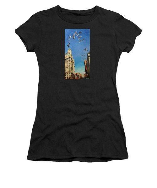 Broadway Pigeons No. 1 Women's T-Shirt (Athletic Fit)