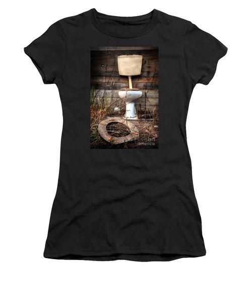 Broken Toilet Women's T-Shirt (Athletic Fit)