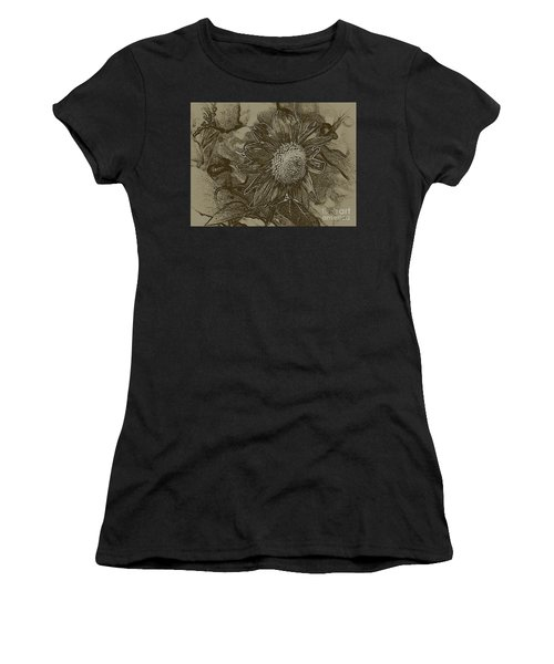 Bronzed Out Sunflower Women's T-Shirt (Athletic Fit)