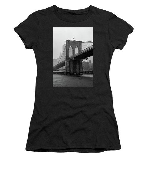 Brooklyn Bridge In A Storm Women's T-Shirt