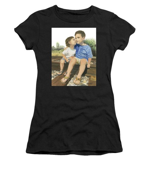 Brotherly Love Women's T-Shirt (Athletic Fit)