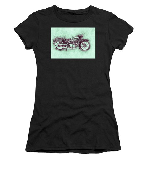 Brough Superior Ss100 - 1924 - Motorcycle Poster 3 - Automotive Art Women's T-Shirt