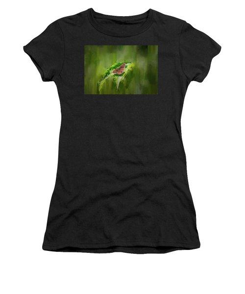 Brown Butterfly #h6 Women's T-Shirt