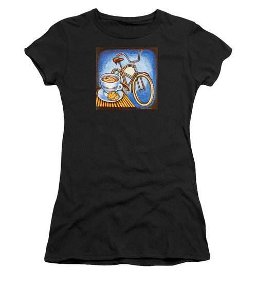 Brown Electra Delivery Bicycle Coffee And Amaretti Women's T-Shirt (Athletic Fit)