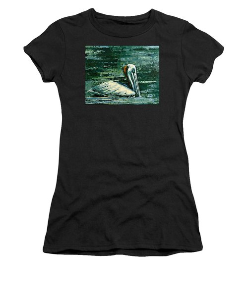 Brownie Swimming In Green Water Women's T-Shirt (Athletic Fit)