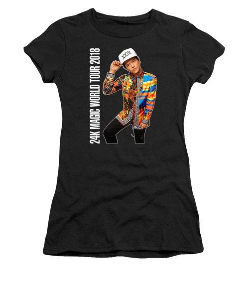 Bruno Mars 24k Magic Tour 2018 Ysf01 Women's T-Shirt