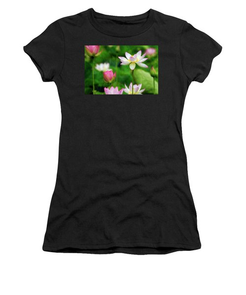 Brushed Lotus Women's T-Shirt (Athletic Fit)