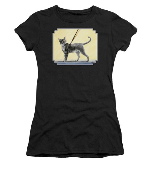 Brushing The Cat - No. 2 Women's T-Shirt