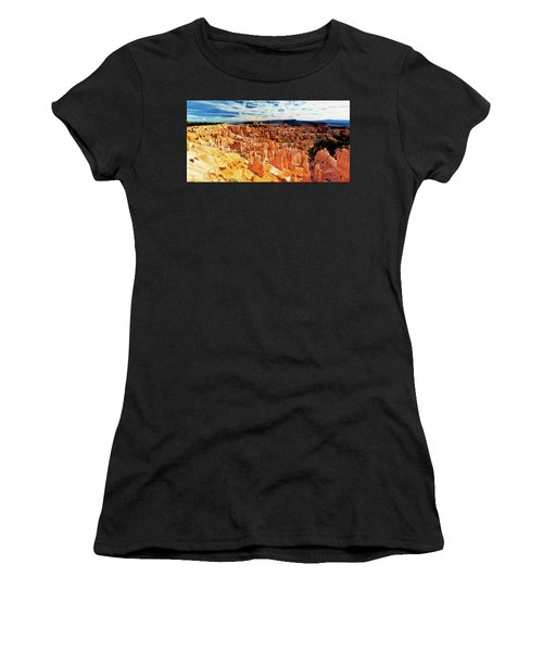 Women's T-Shirt (Athletic Fit) featuring the photograph Bryce Canyon Overlook by Norman Hall