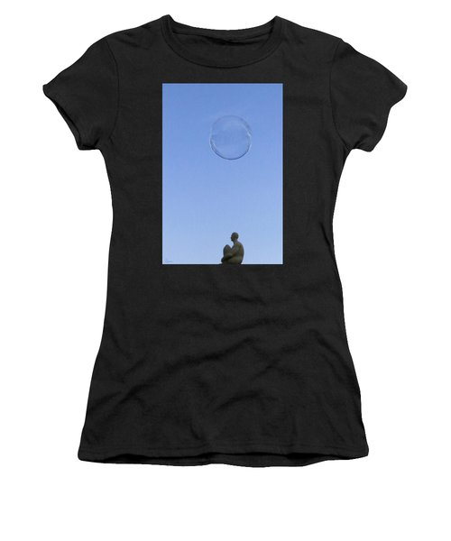 Women's T-Shirt (Athletic Fit) featuring the photograph Bubbled by Rasma Bertz