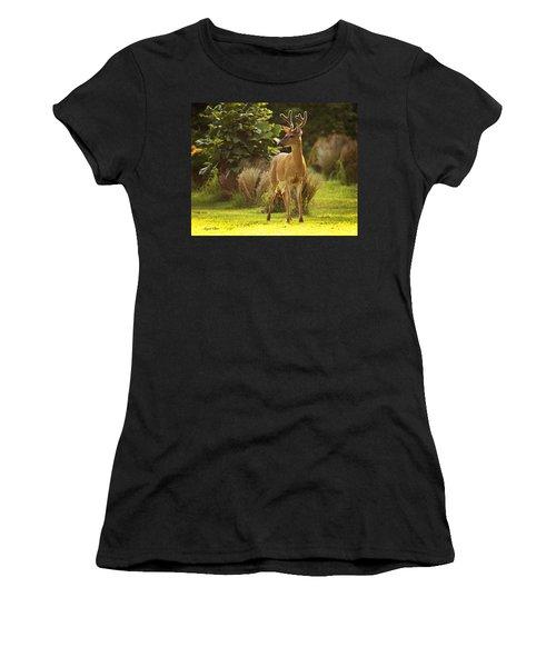 Women's T-Shirt featuring the photograph Buck by Angel Cher