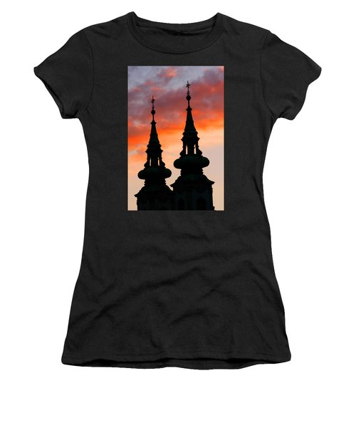 Women's T-Shirt (Junior Cut) featuring the photograph Budapest Sunset by KG Thienemann