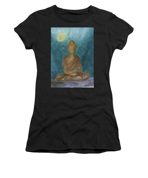 Buddha Abstract Women's T-Shirt (Athletic Fit)